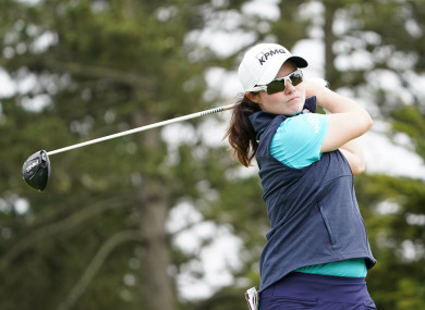 Leona Maguire in action earlier this summer.