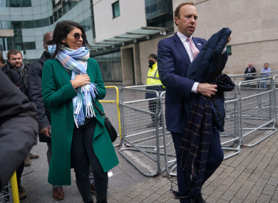 Matt Hancock pictured with Gina Coladangelo before leaking of CCTV footage