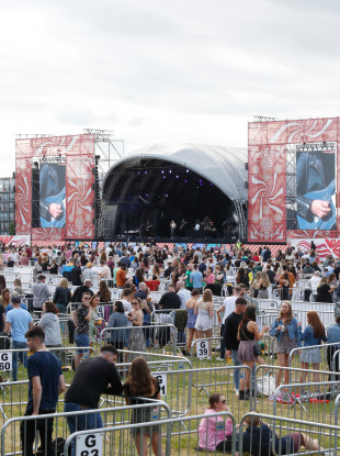 Crowds at the pilot music festival in the Royal Hospital Kilmainham at the weekend.