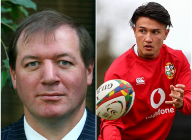 Neil Francis (L) and Lions out-half Marcus Smith (R).