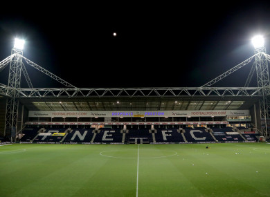The game was scheduled to take place at Deepdale.
