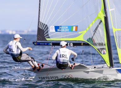 Ireland's Robert Dickson and Sean Waddilove in action in Tokyo.