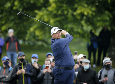 Lowry tees off at Mount Juliet.