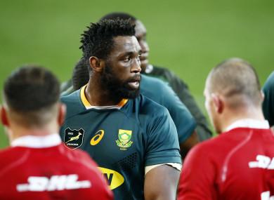South Africa captain Siya Kolisi.