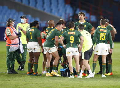 The Springboks haven't played since beating Georgia on 2 July.