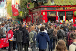 Dozens of people attended a demonstration in Temple Bar this evening.