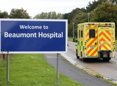 The man is in a serious condition in Beaumont Hospital.