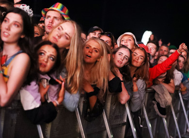 Fans watch Hozier perform at Electric Picnic in 2019.