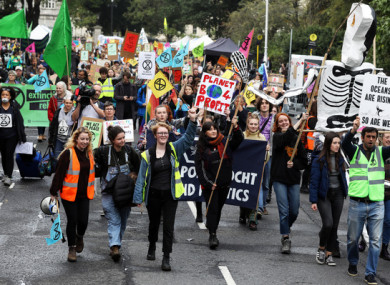 A march for climate action in Dublin city centre, 2019