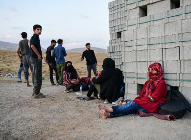 Afghan refugees that crossed the Iran-Turkey border this week.