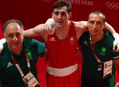 Walsh with coaches Zaur Anita and Dmitry Dmitrij