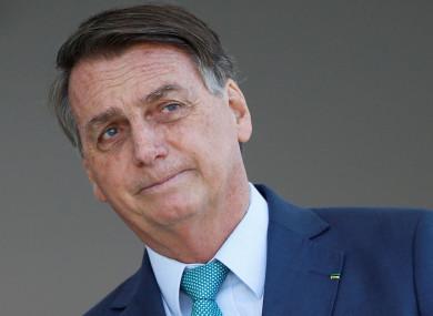 Jair Bolsonaro last month.