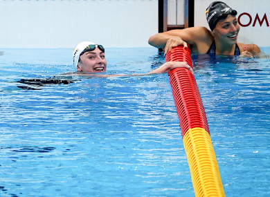 Ellen Keane recorded a new PB in the pool this morning.