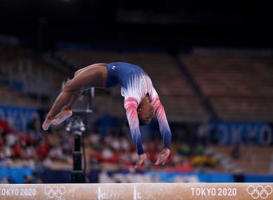 Simone Biles took home a bronze.