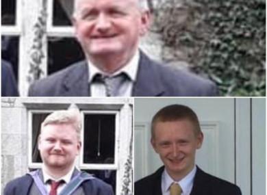Tadg O'Sullivan and his sons Mark and Diarmuid