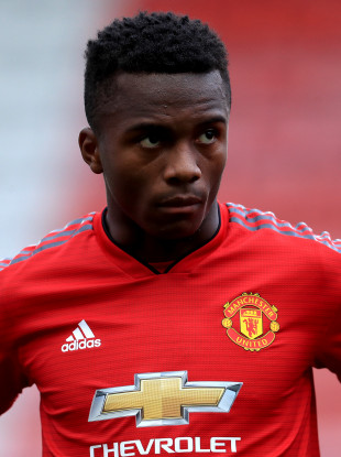 Ethan Laird, Manchester United (file pic).