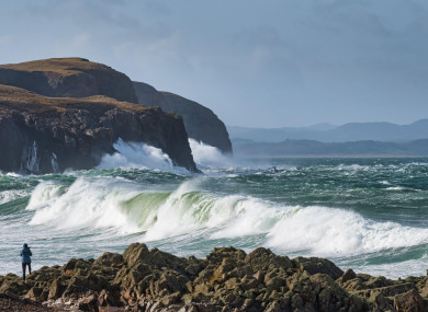 A wind warning is in place in Donegal and four other counties.