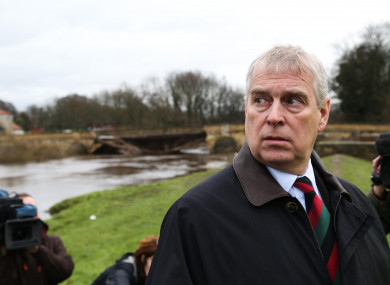 Prince Andrew, file photo.