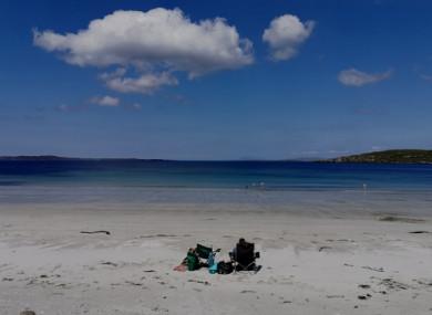 A beach near Cleggan in Connemara, Galway on Tuesday.
