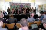 A general view of the press conference in Liberty Hall.