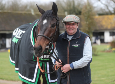 Altior with Nicky Henderson.