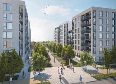 Projected image of the Charlestown apartment scheme.