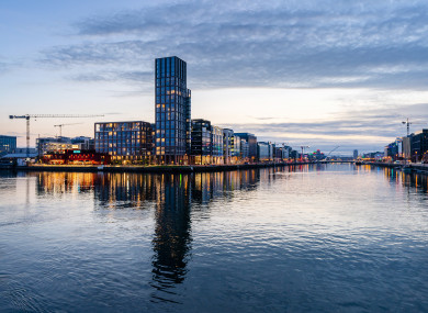 100 of the 190 apartments in the 22-storey Capital Dock near Grand Canal Dock in Dublin are lying vacant, it was reported earlier this year.