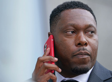 Dizzee Rascal real name Dylan Mills, arrives at Croydon Magistrates' Court.