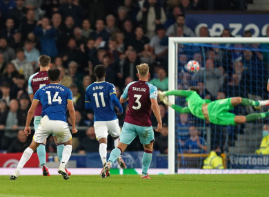 Andros Townsend scored a stunning goal against Burnley.