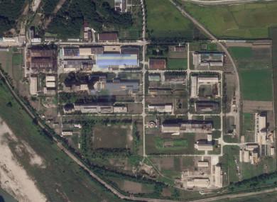 Satellite photo showing a uranium enrichment plant at the Yongbyon nuclear complex.