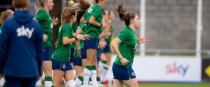 Lucy Quinn training with the Ireland squad at Tallaght Stadium yesterday.