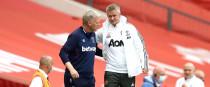 West Ham United manager David Moyes (left) and Manchester United manager Ole Gunnar Solskjaer.