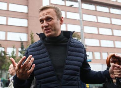 Alexei Navalny in September 2019