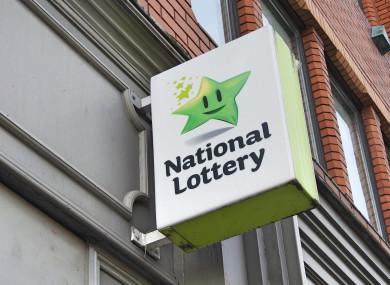 National Lottery sign outside a shop (file photo)