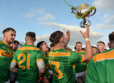 Dunloy players celebrate.