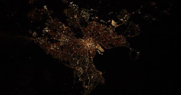 NASA astronaut shares image of Dublin from space