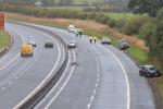 Garda investigators at the scene the serious collision.