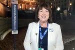 Claire Cronin during the Democratic National Convention at the Wisconsin Center. 2020