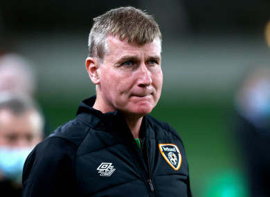 Stephen Kenny pictured during last night's match.